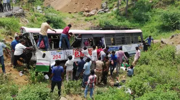 Kondagattu bus accident: 32 pilgrims killed in Telangana as TSRTC bus falls into gorge, Hyderabad, News, Accidental Death, Obituary, Injured, Chief Minister, Compensation, Treatment, Dead Body, National