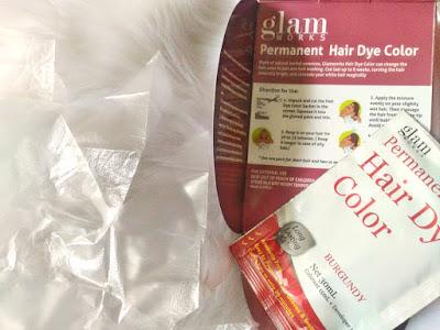 Glam Works Permanent hair dye color in Burgundy