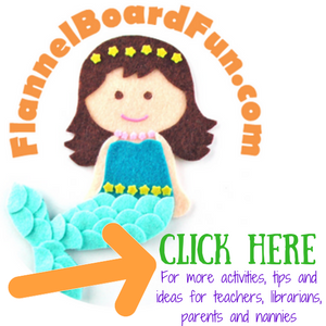 Flannel Board Fun logo and newsletter sign up