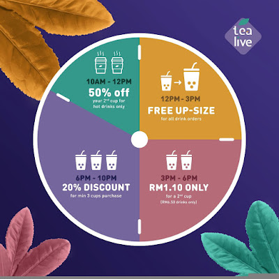 Tealive Thursday Uni-tea Member Discount Free Up-Size Offer Promo