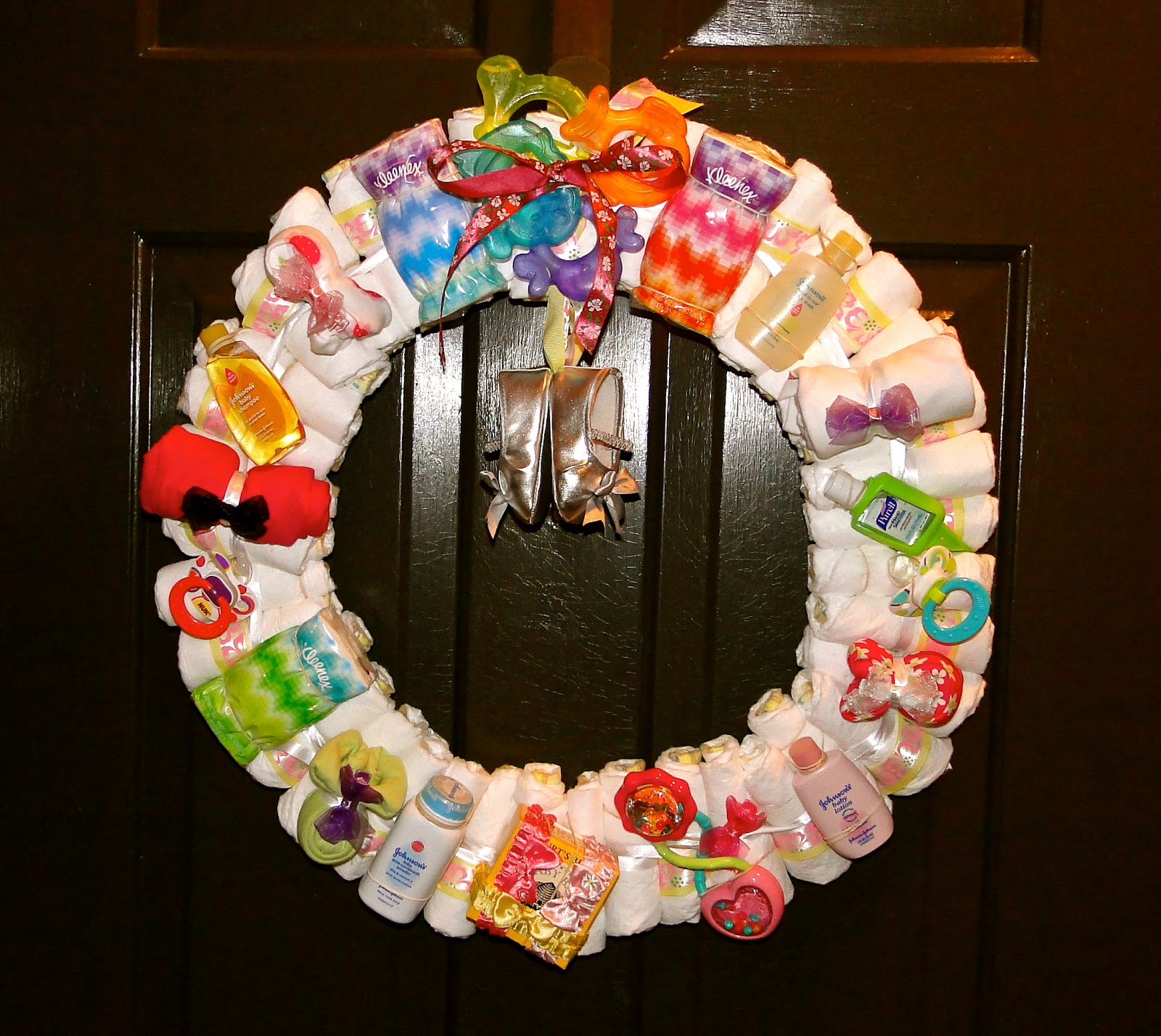 Baby Shower Wreath Instructions
