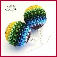 Pendientes bolas de abalorios