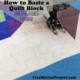 How to baste a quilt block tutorial