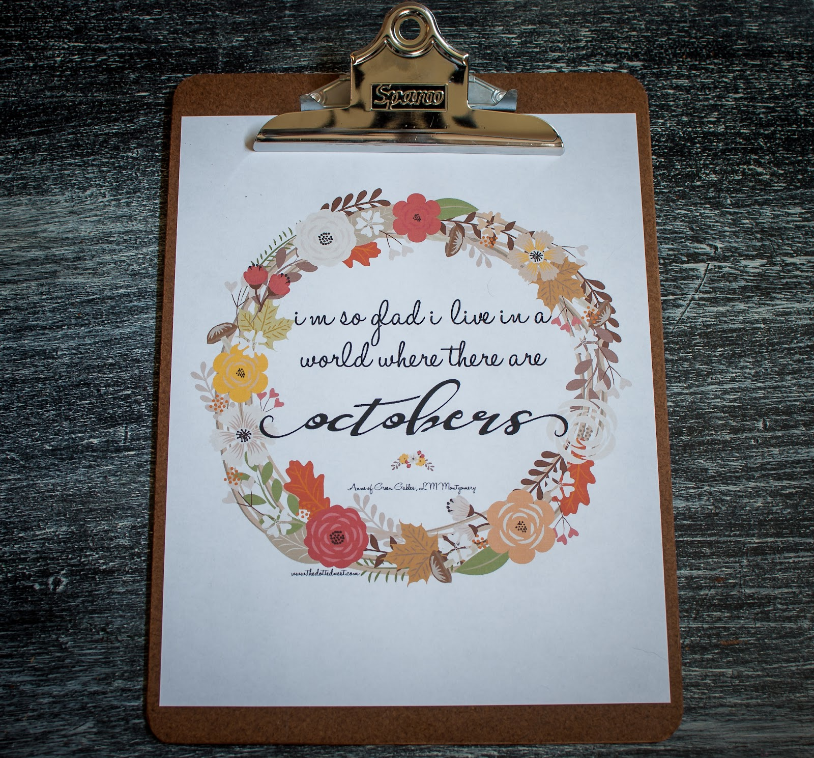 Anne Of Green Gables October Quote Printable