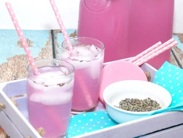 Vanilla Lavender Lemonade #healthy #lemonade