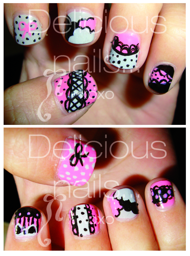 Delicious Nail Designs: Delicious Nails...: I ♥ Girly Designs