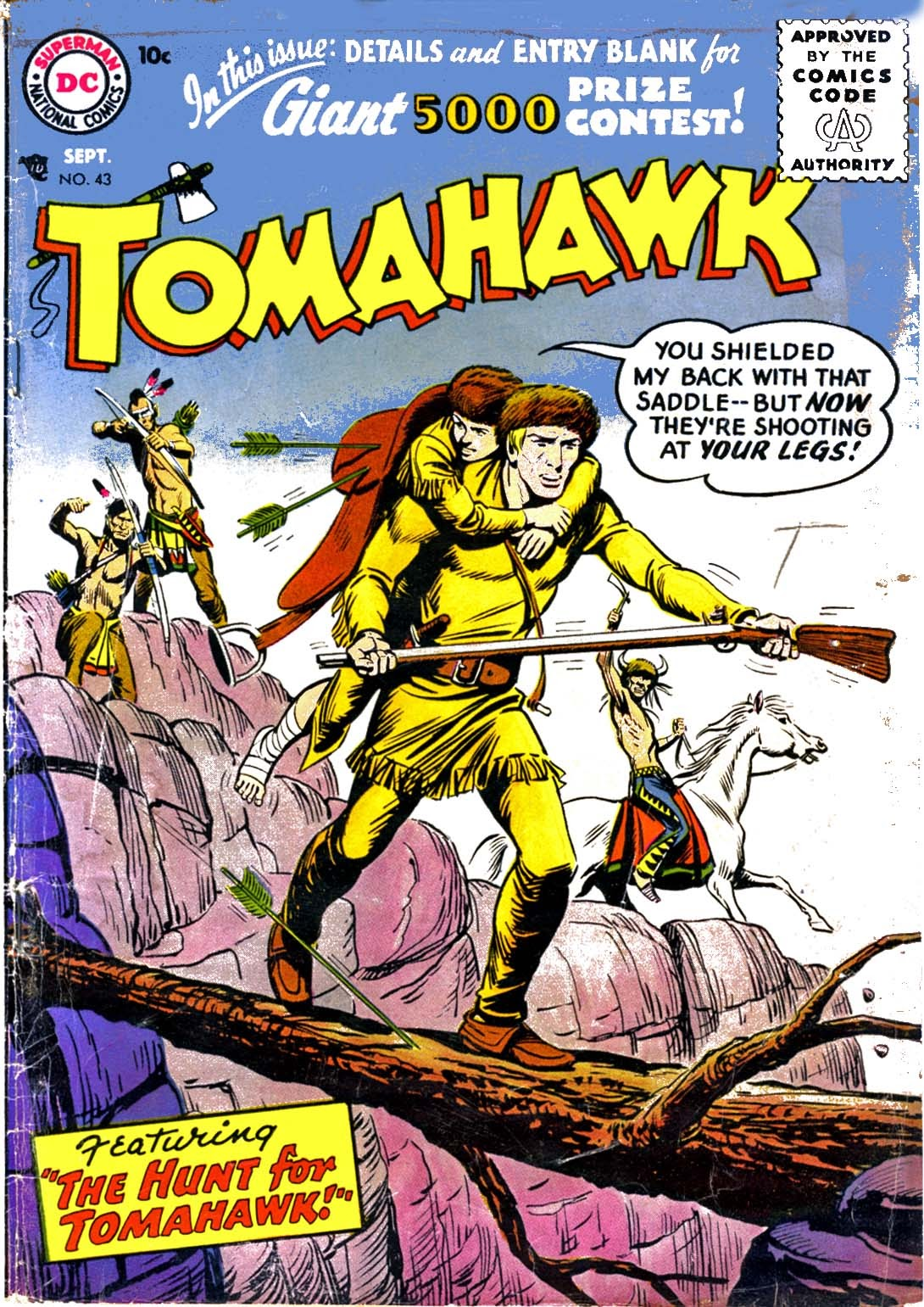 Read online Tomahawk comic -  Issue #43 - 1