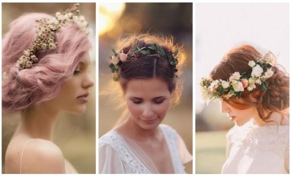 peinados y diademas novia