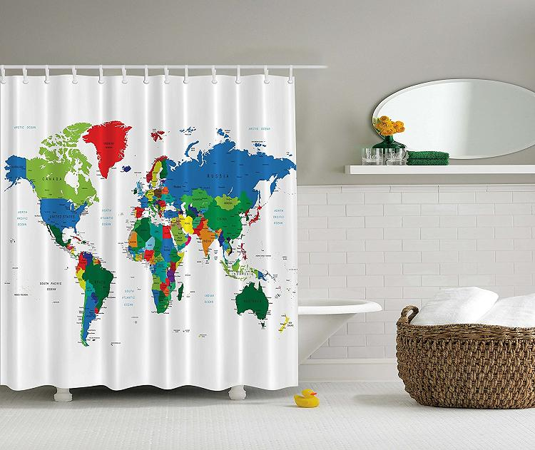 Unusual Bathroom Accessories: 15 Coolest Shower Curtains For Your Bathroom