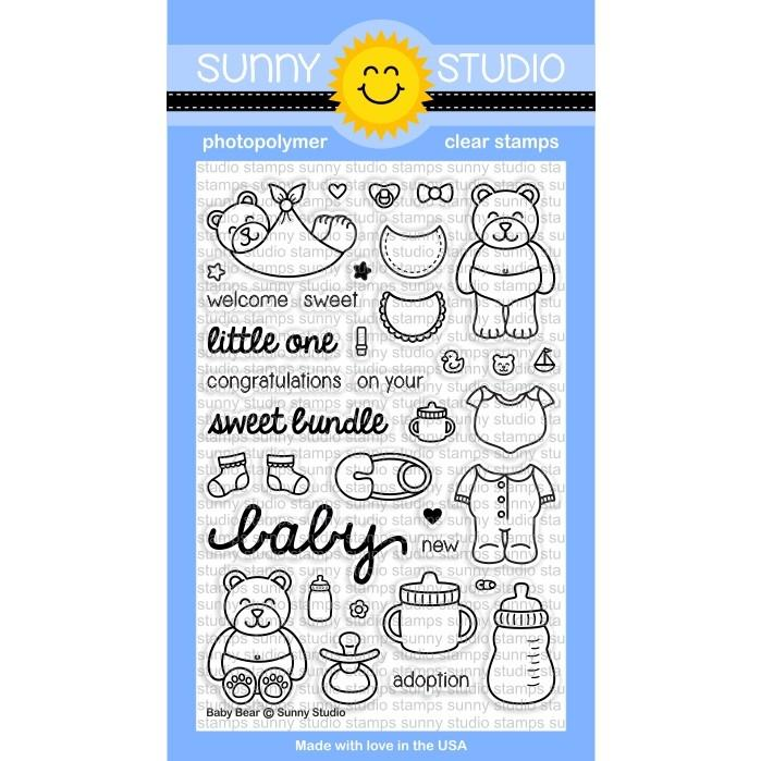Sunny Studio Stamps Baby Bear Stamp set