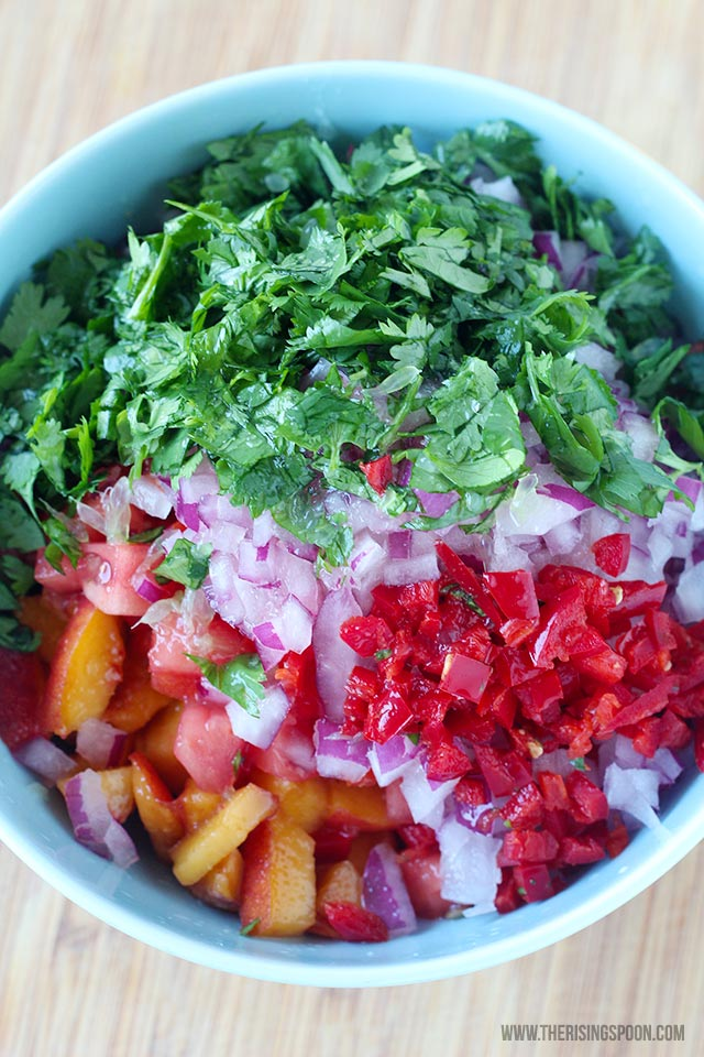 Easy Fresh Peach Salsa Recipe Ingredients
