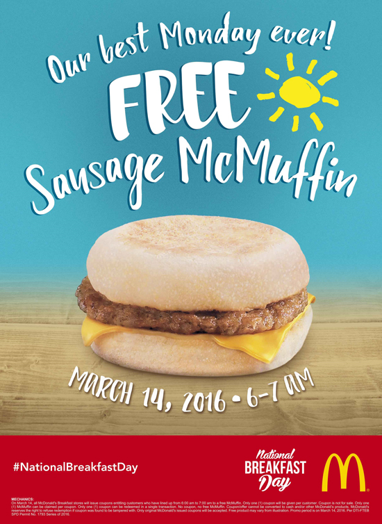 McDonald's 4th National Breakfast Day