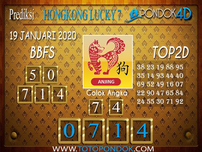 Prediksi Togel HONGKONG LUCKY7 PONDOK4D 19 JANUARI 2020