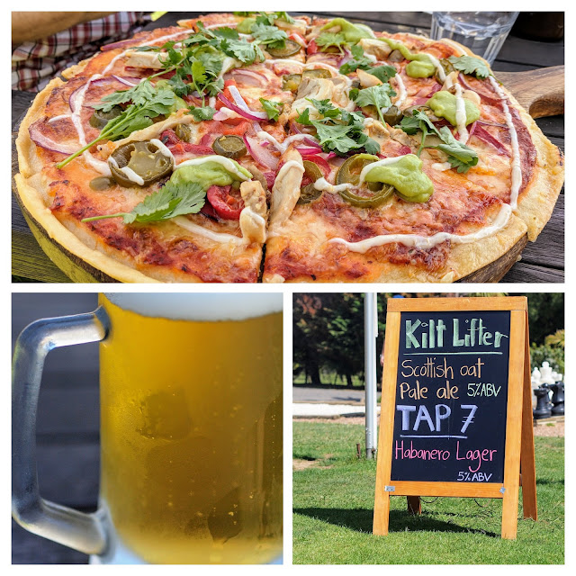 Collage of pizza and beer pictures at Wild on Waiheke near Devonport Auckland