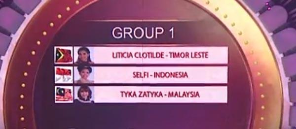 urutan tampil grup 1 top 15 da asia 4