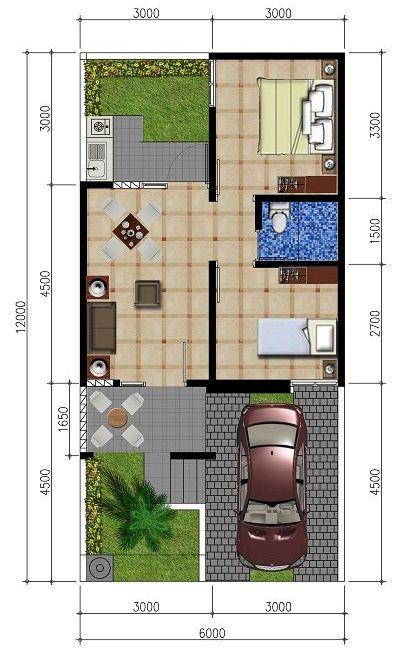 1010+ Foto Desain Rumah Minimalis 6X12 2 Kamar Terbaik Unduh