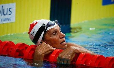 انتصار الارادة, سباحة مصرية, تحصد الميدالية الفضى, بطولة الاساتذة, كوريا الجنوبية,