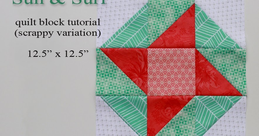 A Bright Corner Sun And Surf A Quilt Block Tutorial