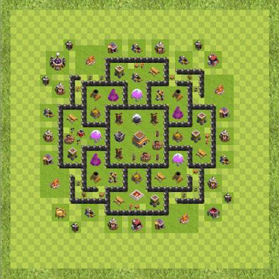 War Base Town Hall Level 8 By zakuze (me TH 8 Layout)