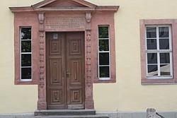 Eingangstür zu Goethes Wohnhaus