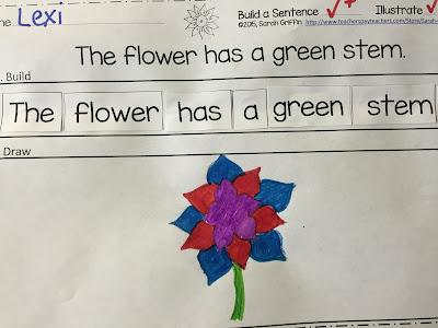 https://www.teacherspayteachers.com/Product/Building-Sentences-Flowers-and-Plants-649170