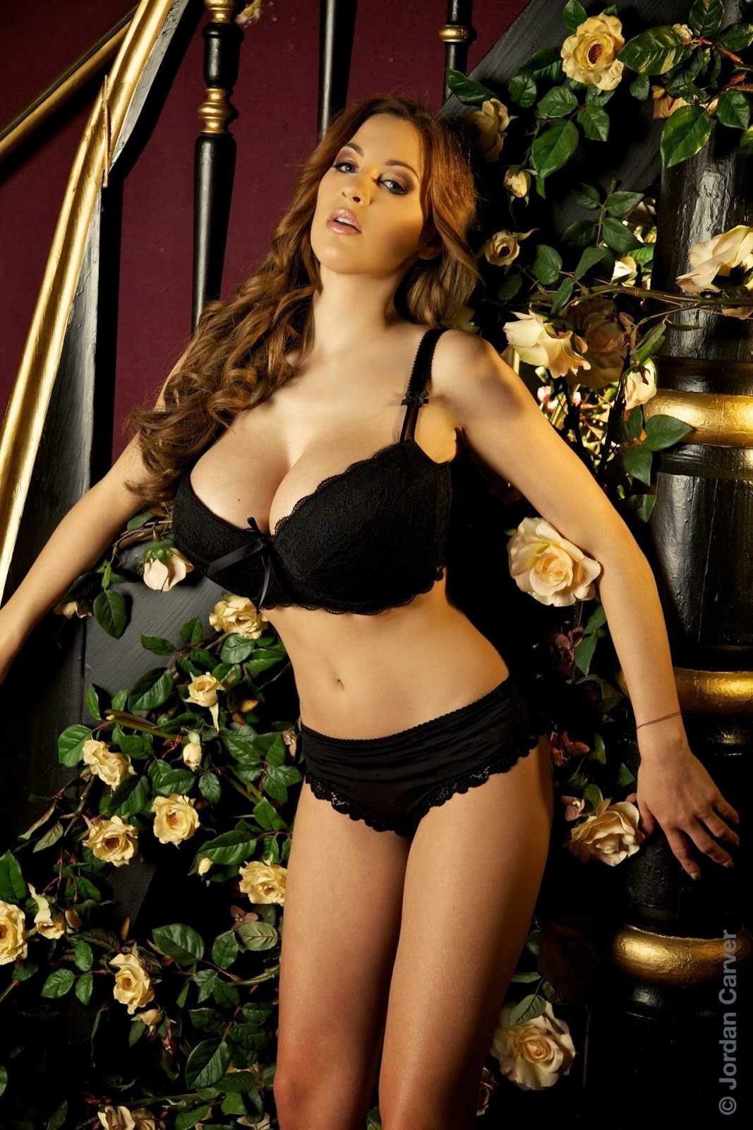 Jordan Carver Big Boobs In Black Bra And Panty Giuliette -4260