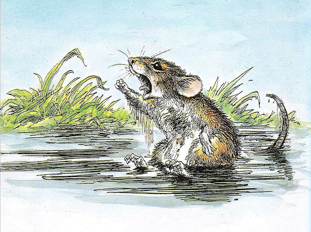 Wallace Tripp illustration of an angry mouse