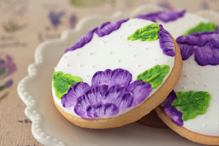 Galletas decoradas brush embroidery