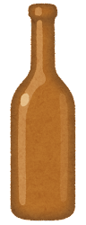 空き瓶のイラスト(茶)