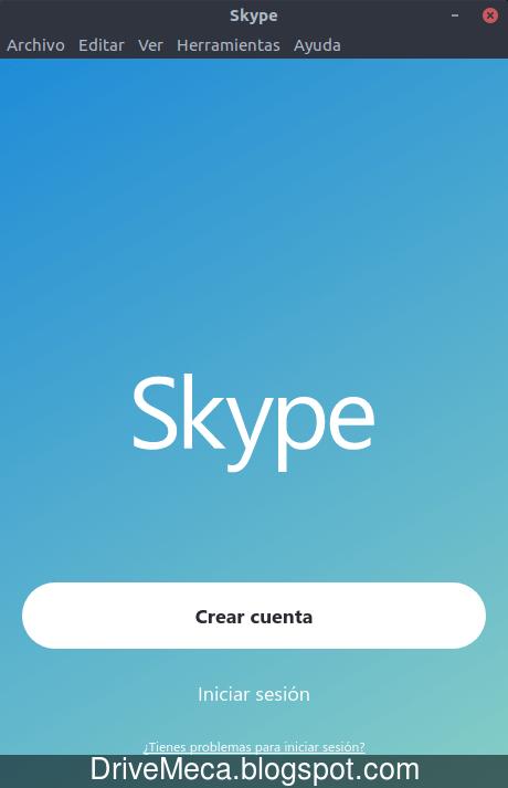 Creamos o iniciamos sesion con Skype