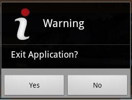 Joy's: Custom Alert message when Back button is Pressed in