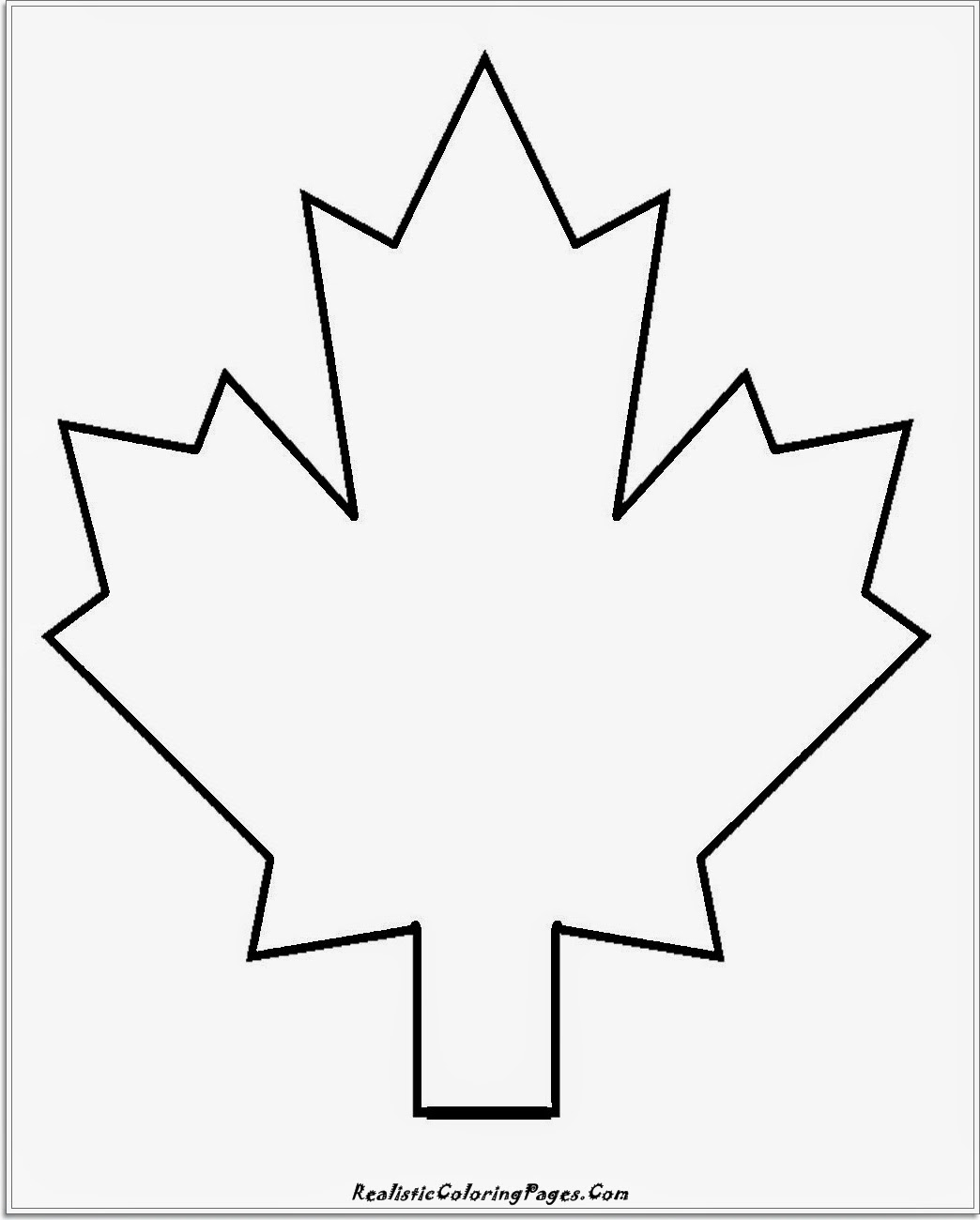 simple leaf kids coloring pages