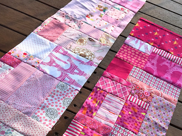 QUILTING: Scrappy Happy Rainbow Quilt - Pink