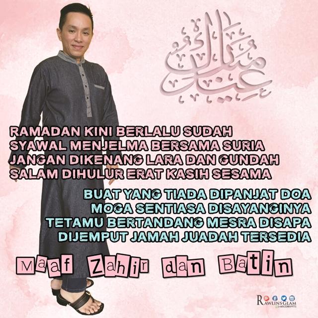 byrawlins, Eid Mubarak, hari raya, Rawlins GLAM, Salam Lebaran, UKM Global,
