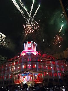 Fogos no Natal do Palácio Avenida em Curitiba 2017