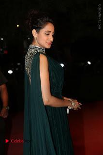 Actress Pragya Jaiswal Stills in Green Long Dress at Gemini TV Puraskaralu 2016 Event  0035.JPG