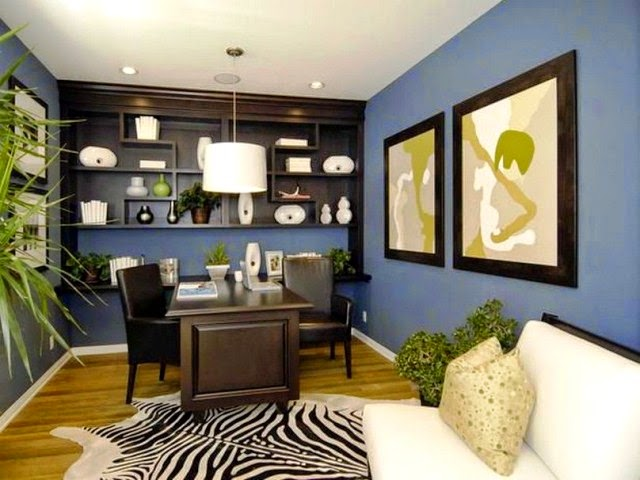 exciting home office paint color ideas | Wall Painting Ideas for Office