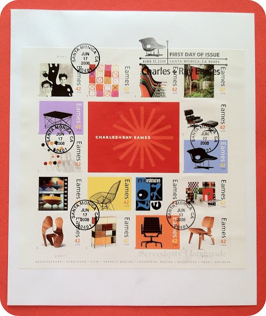 First Day of Issue Cover, Eames Stamps, June 2008
