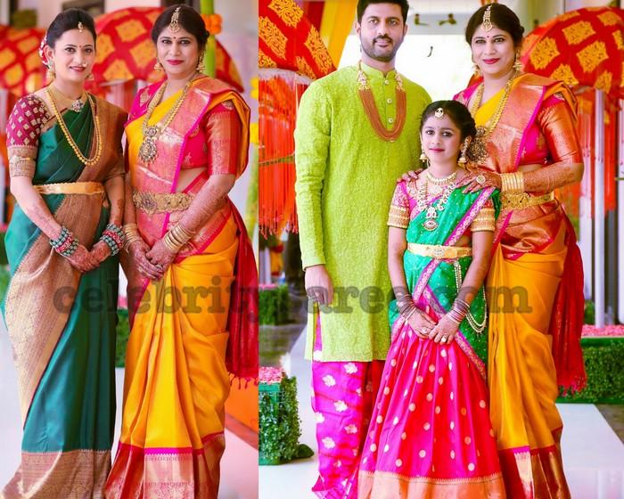 5db793719cc56 Swetha Reddy in Mustard Silk Saree - Saree Blouse Patterns