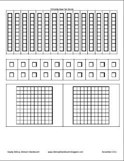 photograph regarding Base 10 Blocks Printable named Bishops Blackboard: An Essential Education and learning Web site: Printable