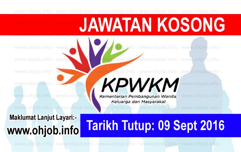 Jawatan Kerja Kosong Kementerian Pembangunan Wanita, Keluarga dan Masyarakat (KPWKM) logo www.ohjob.info september 2016