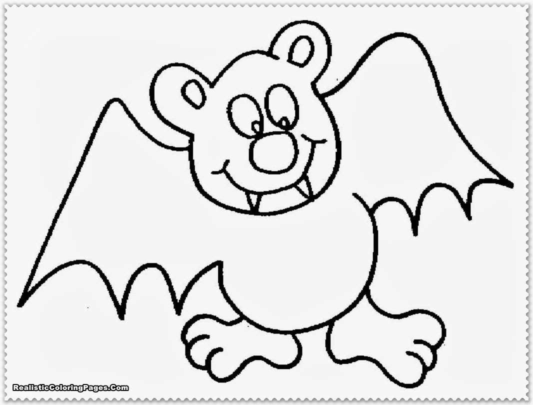 Realistic Bat Coloring Pages