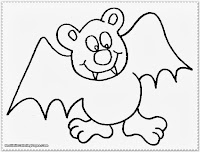 cartoon bat coloring pages
