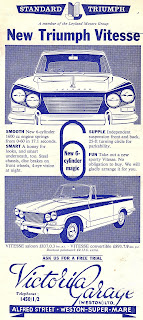 Victoria Garage (Weston) Ltd Triumph advert 1963