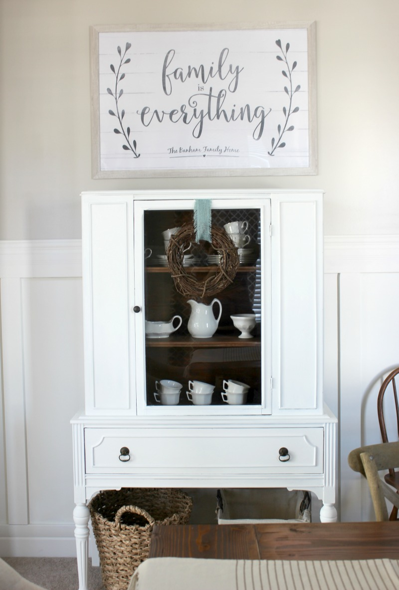 farmhouse hutch decor