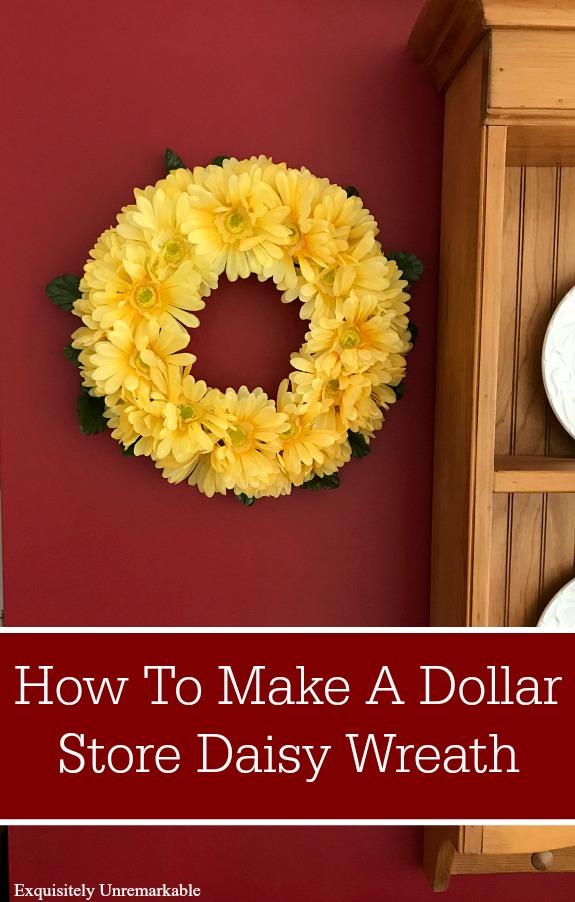Dollar Store Daisy Wreath DIY
