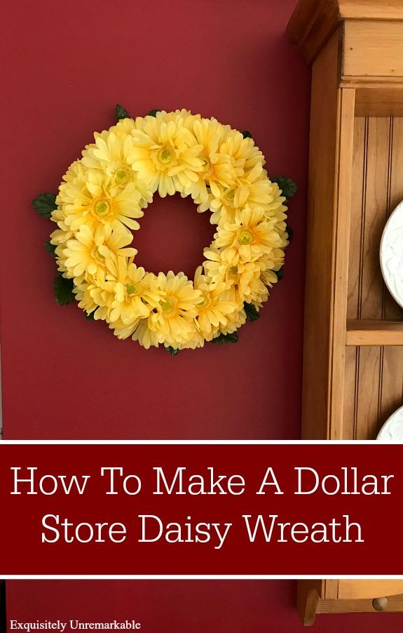 Dollar Store Daisy Wreath DIY
