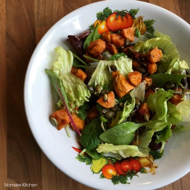 Roast Sweet Potato Salad Recipe from Nomsies Kitchen