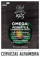 Club Alhambra Reserva 1925 celebra el 20 aniversario de Omega en tres conciertos