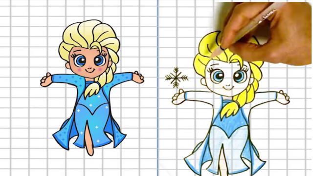 كيف ترسم ملكة الثلج كاملة وباحترافية عالية
